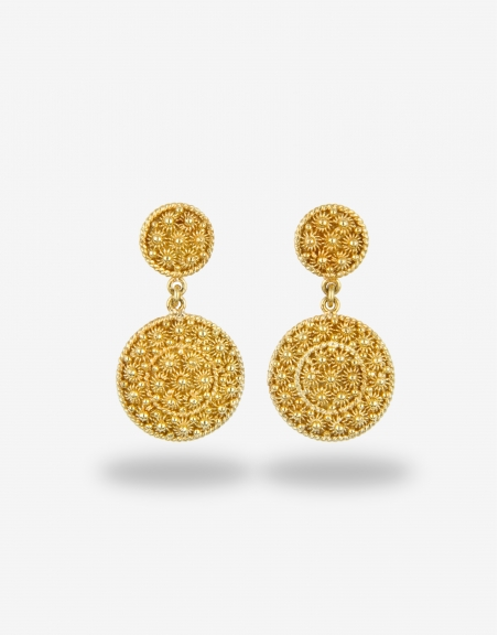 Luxury Real Gold Earrings