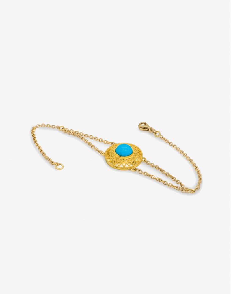 Turchese disco bracelet