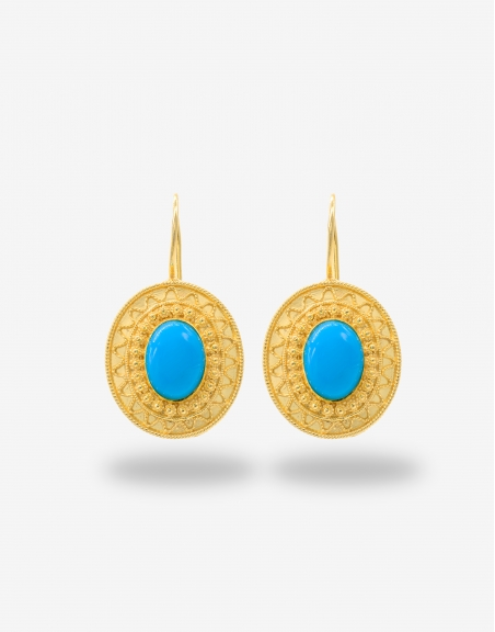 Turchese ovale earrings