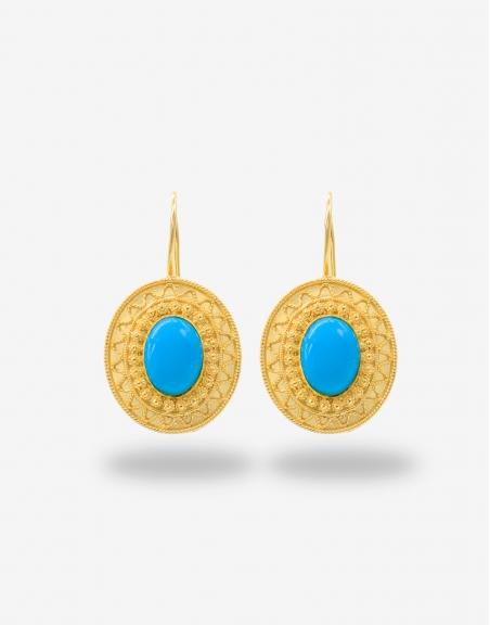 Turchese ovale earrings