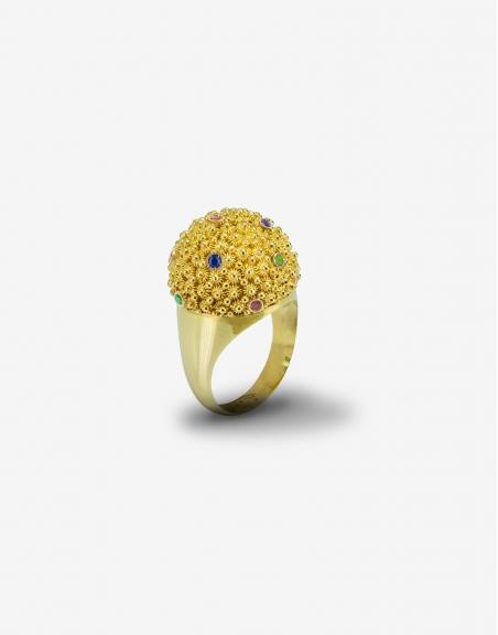Fedele cupolina gems ring