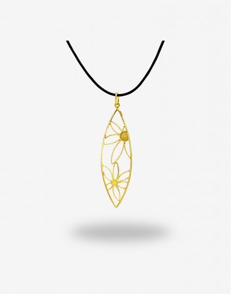 Corbula fiore scudo pendant