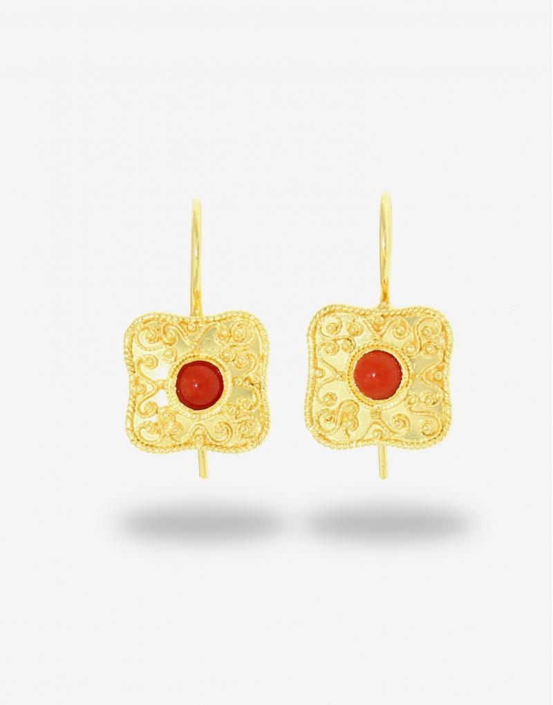 Corallo square hook earrings