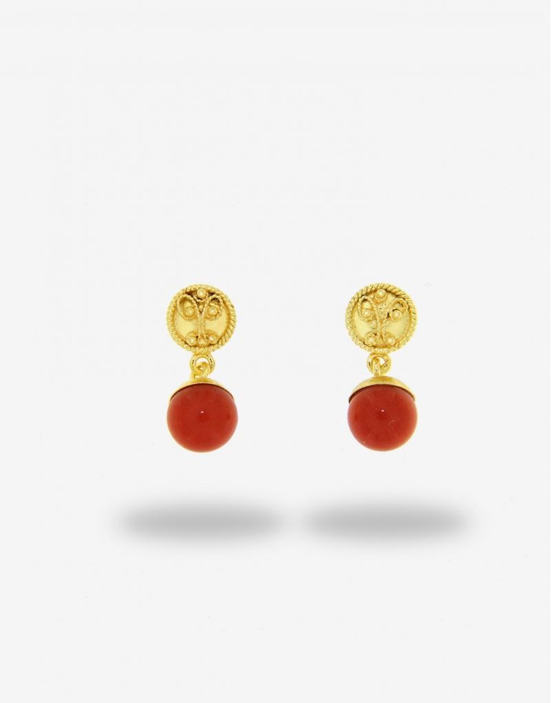 Corallo bead earrings