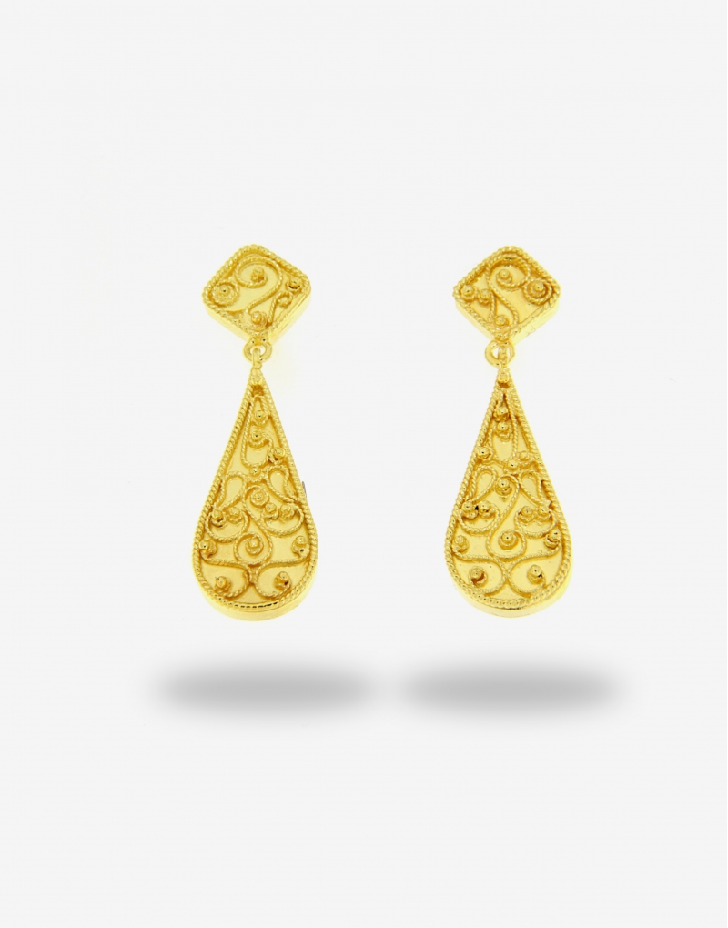 Corallo goccia earrings