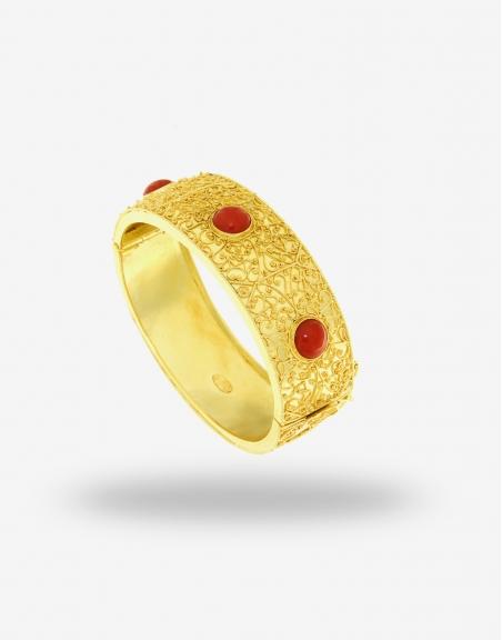 Bracelet Gold 18K with Coral