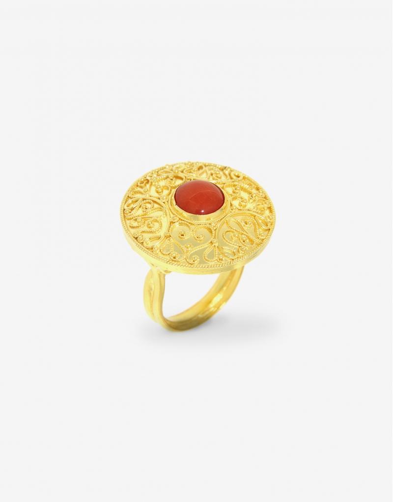 Corallo disc ring