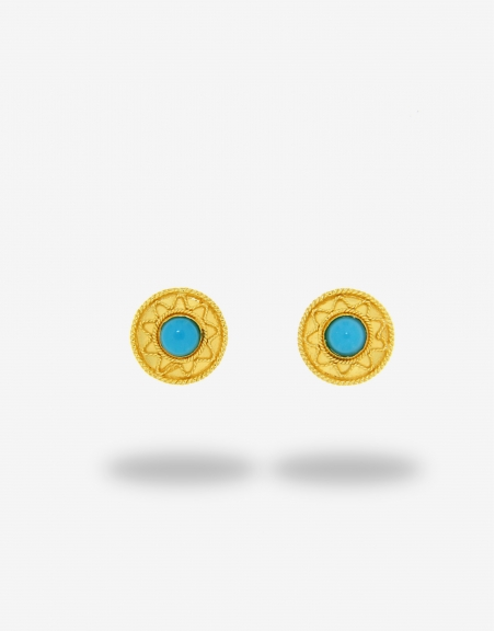 Turchese piccolo stud earrings